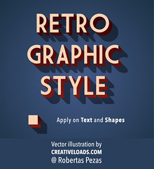 Retro Graphic Style for Illustrator (creativeloads.com) Tags: old art vintage typography design 3d graphic symbol text decoration style retro font type letter abc alphabet vector element typeface