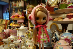 Sweet Gracie... (Primrose Princess) Tags: doll blythe takara teaparty teaset laduree fauchon blythedoll frenchpastries strawberrymillefeuille