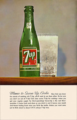 7-Up Goes to a Party - 1961 - Back Cover (shannonlepak) Tags: party vintage recipe cookbook cola pop retro soda 1960s recipes 7up 1961