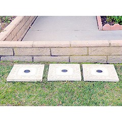 Homebrite Polyresin Garden Landscape Solar Lighted Stepping Stones, 30839, Square, White (bestbirdhouseusa) Tags: wordpress ifttt