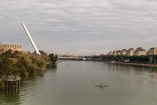 Seville Jan 2016 (4) 200 - Around and about Puente de la Barqueta - Looking back at The Harp