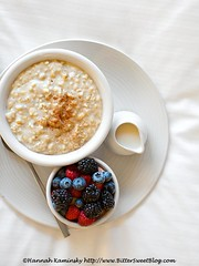 Oats with the Most - Breakfast in Bed (Bitter-Sweet-) Tags: morning travel food fruit breakfast burlington restaurant hotel vegan healthy vermont berries sweet cinnamon fresh oatmeal dining oats luxury savory juniper steelcut breakfastinbed almondmilk hotelvermont