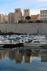 Le port et St Victor, Marseille (Jeanne Menjoulet) Tags: port marseille abbaye stvictor