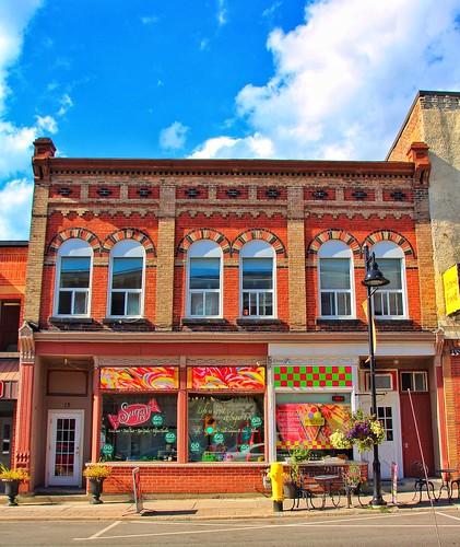 Uxbridge Ontario ~ Canada ~ 11 & 13  Brock St ~ Commercial  Block ~ Heritage Building ~ 1887
