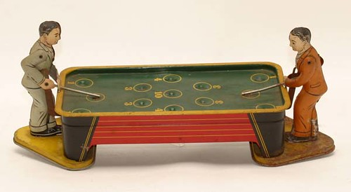 Ranger Billiards Table & Players Tin Wind-Up Toy - $143.00