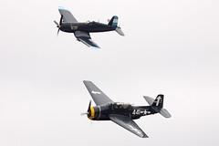 Corsair and Avenger (joolsgriff) Tags: airshow corsair grumman avenger 2016 vought tyabb tbm3 f4u5n peninsulaaeroclub