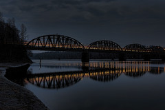 A train came by (Hans Myhrvold) Tags: bridge night train river bestcapturesaoi elitegalleryaoi