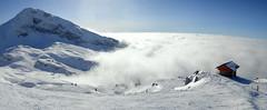 Les Alpes en hiver (Jacques Rochet) Tags: panorama en ski montagne alpes soleil au nuages vercors panoramique pistes sommet hivers dessus correnon
