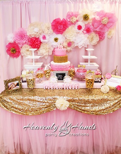Pleasing Pink And Gold Baby Shower Candy Table A Photo On Flickriver Download Free Architecture Designs Rallybritishbridgeorg