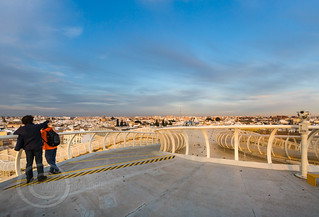 Seville Jan 2016 (5) 776  - Around and about the Metropol Parasol in Plaza de la Encarnacion at the other end of the day this time - waiting for the sunset