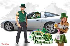 St Patrick's Day (redvette) Tags: photoshop corvette shamrock stpatricksday potofgold