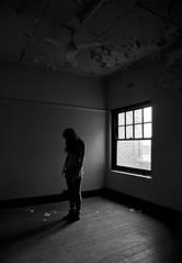 The Resonance of Goodbye (Kitten of DOOM.) Tags: blackandwhite selfportrait abandoned window melbourne