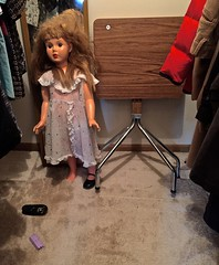 One Afternoon in a Closet at the Estate Sale (ricko) Tags: closet doll iphone estatesale 2016 hangingclothes 107366