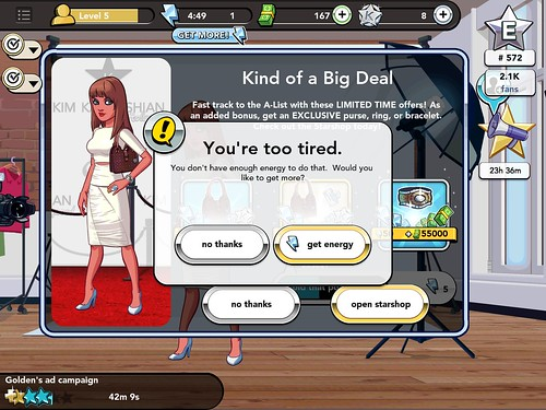 Kim Kardashian: Hollywood Energy: screenshots, UI
