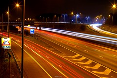 M1 Motorway (3) (LFaurePhotos) Tags: life road longexposure urban signs london night motorway m1 outdoor vehicles lamppost freeway lighttrails afterdark a41 stanmore northwestlondon brockleyhill londonboroughofbarnet