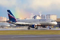 After rain (Oleg Botov) Tags: sky rain plane airport rainbow aircraft aviation airbus spotting airliners avia aeroflot svo  planespotting   sheremetyevo  avgeek  uuee  planeporn crewlife slavniyoleg