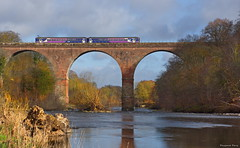 """""""The Colors of Spring"""" (Pensioner Percy, very slow at the moment) Tags: nikon nikond7200 d7200 wetheral spring viaduct cumbria rivereden nikon18140mm carlisle railways trains northernrail edenvalley 18140"""