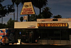 Began Day Of The Donut at MISS DONUTS (chloe & ivan) Tags: bloodbath boogienights missdonuts dayofthedonut