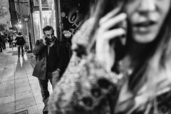 the call (㋡ Aziz) Tags: life street city light portrait people urban blackandwhite bw black color eye nature monochrome night composition contrast turkey photography photo women call raw day shadows phone natural photos outdoor live candid türkiye crowd deep streetphotography talk streetlife istanbul human fujifilm 16mm fujinon sokak candit siyahbeyaz streetstory xt1 streetvision fujicolors sokakfotoğrafçılığı