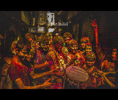 Music of Colours! (@K-Art StudioS) Tags: street morning travel india color colors festival journey kart kc fest chennai holi tamil tamilnadu karthik musci karthikc incredibleindia kartstudios karthikchandrasekar