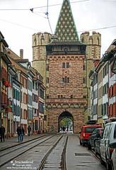 Spalentor City Gate, Basel, Switzerland (PhotosToArtByMike) Tags: switzerland swiss basel rhine ch citygate spalentor grossbasel spalenvorstadt spalengate baselswitzerland gateofspalen oldtownbasel