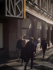 Gold and Green (Markus Jansson) Tags: street morning light sunlight hat 35mm spring focus stockholm cctv manual fujian nk f17 hamngatan cmount