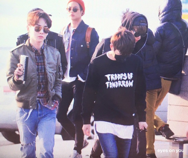 160328 SHINee @ Aeropuertos de Incheon y Shanghai {Rumbo a China} 26076114836_e60336266a_z