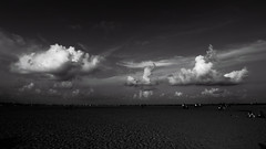 Marina (kevinkishore) Tags: life travel summer people cloud india white black beach clouds contrast marina outdoors cloudy sands marinabeach chennai cloudscape cloudporn