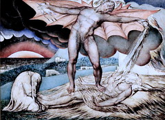 IMG_1841 William Blake. 1757-1827. Londres.  Satan Smiting Job with Sore Balls. Satan accable Job de malheurs. vers 1826.  Londres Tate Britain. (jean louis mazieres) Tags: greatbritain london museum painting unitedkingdom muse londres museo peintures tatebritain williamblake peintres grandebretagne