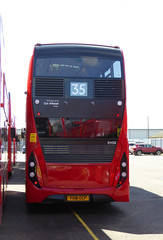 GAL EH58 - YX16OCP - REAR - BV BELVEDERE GARAGE - THUR 28TH APR 2016 (Bexleybus) Tags: new bus london buses ahead garage go 400 belvedere dennis hybrid mmc bv enviro etb adl goahead eh58 yx16ocp