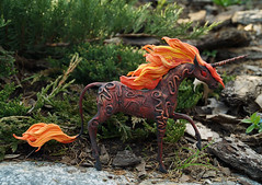 fireun1 (rkardragon) Tags: horse clay etsy unicorn clayfigure unicornfigure
