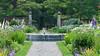 Facing West in the Walled Garden (justmecpb) Tags: summer newyork fountain unitedstates longisland daisy delphinium walledgarden goldcoast oldwestburygardens oldwestbury ageratum