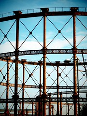Twelvetrees Gasholders (firstnameunknown) Tags: london camerabag eastlondon gasometer gasholder gasometers gasholders twelvetrees twelvetreescrescent camerabag2