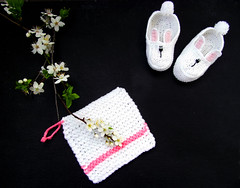Spring) (olha-k) Tags: inspiration spring knitting handmade crochet dishcloth rabbits handknitting вязание forbaby салфетка пинетки серветка вязання пінетки зайченята