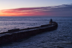 Evening glow (Simon Bone Photography) Tags: sea sky cloud sun seascape coast cornwall waves shoreline cliffs coastal 09 nd coastline reverse grad ea hitech beachscape portreath cornishcoast canoneos7d wwwsimonbonephotographycouk canonef24105mmislf4