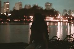 (youlearn2love) Tags: light shadow brazil lake girl brasil buildings lights traffic sp ibirapuera represa blackhair sillhouette ibira silhueta tumblr
