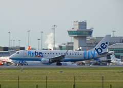 G-FBJF Embraer 175 of Flybe (SteveDHall) Tags: airplane manchester airport aircraft aviation aeroplane airliner airliners airfield manchesterairport aerodrome embraer ringway 2016 flybe embraer175 e175 gfbjf