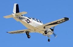 160475 (John W Olafson) Tags: airplane beechcraft usnavy trainer t34c kpsp 160475