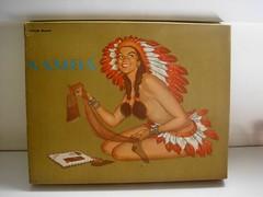 "Namb - Vintage Bizarre Silk Stockings Box (""The Brazilian 8 Track Museum"") Tags: sexy stockings up vintage de weird pin box indian silk collection meia antiga seda embalagem alceu tupinamb massini"