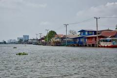 The Chao Phraya river passing Koh Kret, an island in the river, near Bangkok, Thailand (UweBKK ( 77 on )) Tags: water river thailand island asia bangkok sony ko southeast alpha dslr chao koh 77 slt pak kret phraya kokret kohkret pakkret