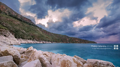 chill (fabiocalandra) Tags: ocean travel blue light sunset sea sky italy sun storm beach water beautiful beauty rain night del clouds long exposure italia blu hour sicily tp sicilia golfo castellammare