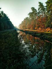 autumn leaf (simondownunder) Tags: autumn reflection creek mirror herbstfarben