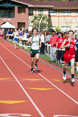 Henry finishing the DMR (Malcolm Slaney) Tags: track paloalto dmr trackandfield 2016 paly distancemedleyrelay stfrancisinvitational