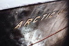 The Sidewinder sleeps tonight (I AM JAMIE KING) Tags: texture river word fishing ship mud steel text hull trawler humber sidewinder rivet arcticcorsair