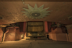 Another star fades away (Kriegaffe 9) Tags: old orange cinema star theatre stage curtain