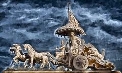 the intersection (Pejasar) Tags: sculpture india art hindu ashram rishikesh neartheganges