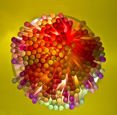 """""""Straw Explosion"""" by Annette (andywragg2008) Tags: colours straws lightbox"""