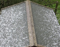 SHED ROOF (d p hughes) Tags: england colour weather hail outside spring cheshire crewe climate meteorology