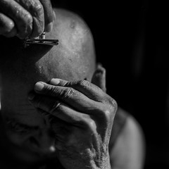 Myanmar (Giacomo Frullani) Tags: portrait 120 kodak monk hasselblad balckandwhite myanmar 80mm filmphotography filmisnotdead believeinfilm