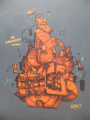 Retro : hommage  un DJ ukrainien (avril 2016) (Archi & Philou) Tags: streetart dj ukraine retro hommage paintedwall amandiers murpeint mnilmontant paris20 ruedesplatrires